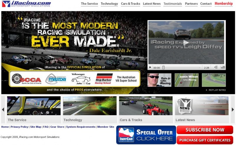 iRacing website