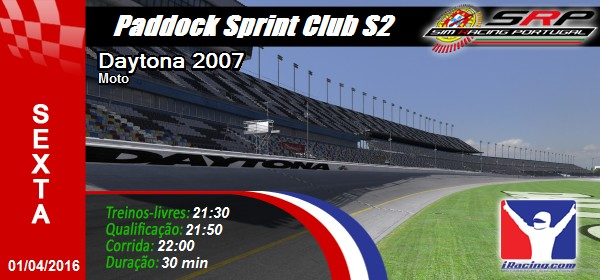 Paddock Sprint Series Club S2 - Round 1
